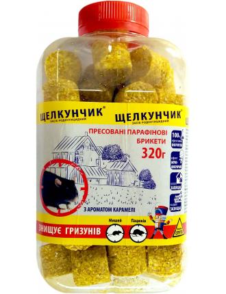 Брикеты парафиновые от мышей и крыс Щелкунчик 320г Жёлтый