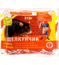 Зерно от крыс и мышей Щелкунчик 315г красный сыр