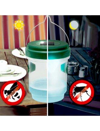 Ловушка для насекомых на солнечной батарее 2 в 1
