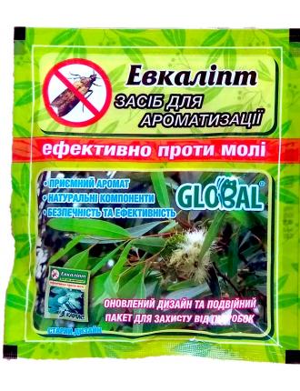 Таблетки от моли Global Эвкалипт, 10шт